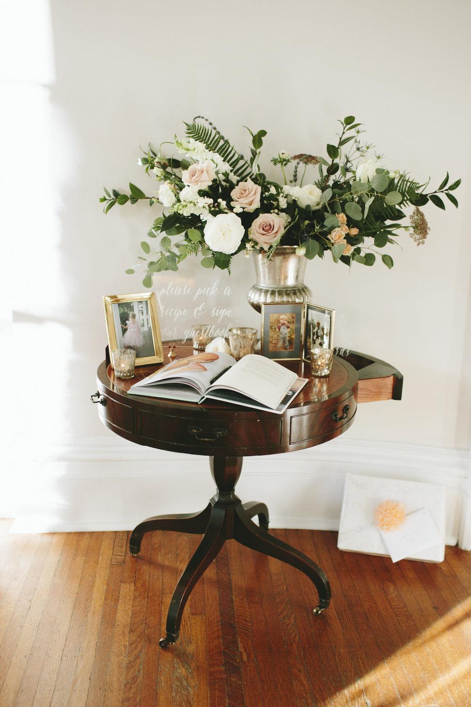 Lauren & Dylan's Restaurant Inspired Wedding Cocktail Hour Guestbook