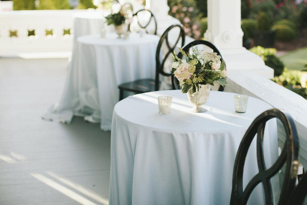 Lauren & Dylan's Restaurant Inspired Wedding Cocktail Hour Guest Seating