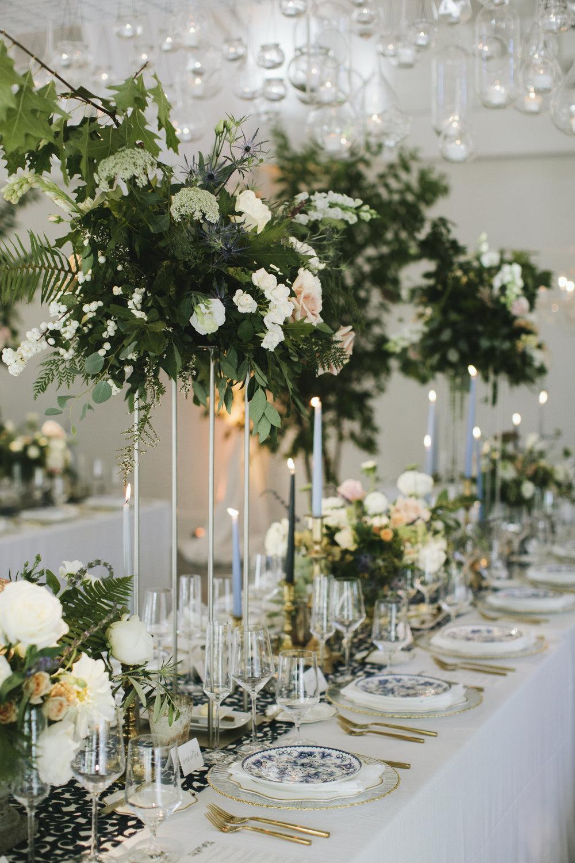 Lauren & Dylan's Restaurant Inspired Wedding Reception Tablescape