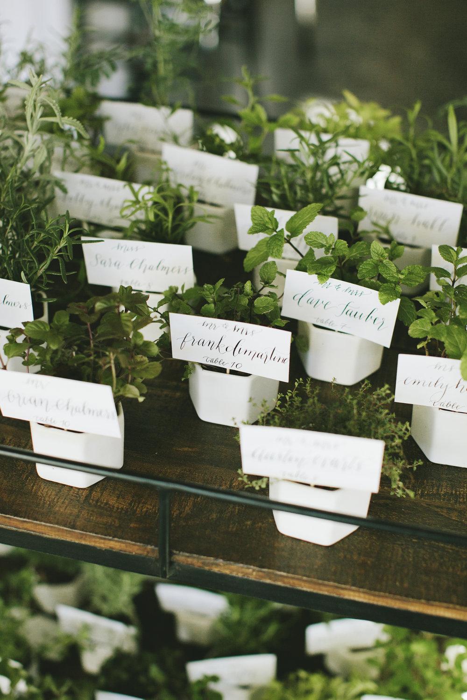 Lauren & Dylan's Restaurant Inspired Wedding Escort Cards and Favors