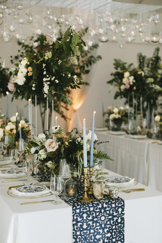 Lauren & Dylan's Restaurant Inspired Wedding Tablescape Design