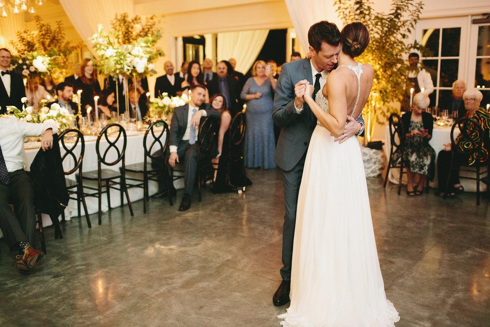 Lauren & Dylan's Restaurant Inspired Wedding Bride and Groom First Dance