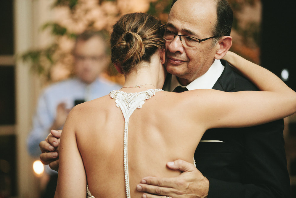 Lauren & Dylan's Restaurant Inspired Wedding Father-Daughter Dance