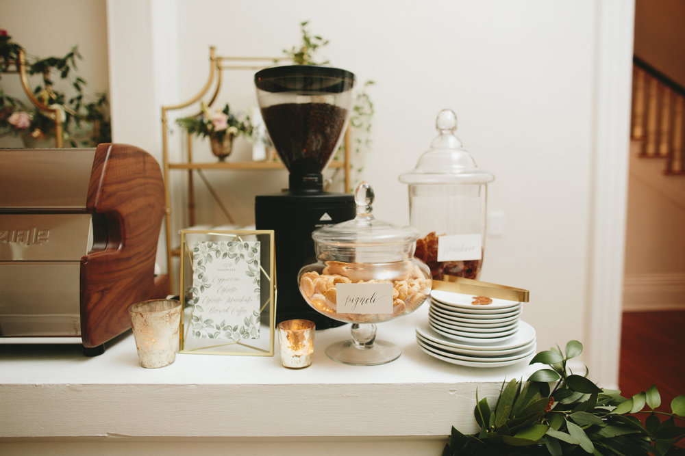 Lauren & Dylan's NYC Restaurant Inspired Wedding Espresso Bar