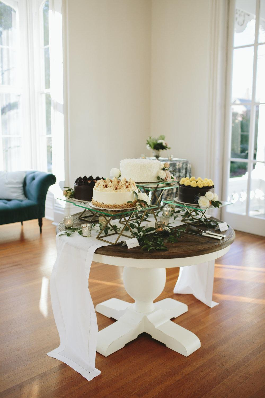 Lauren & Dylan's Restaurant Inspired Wedding Dessert Display