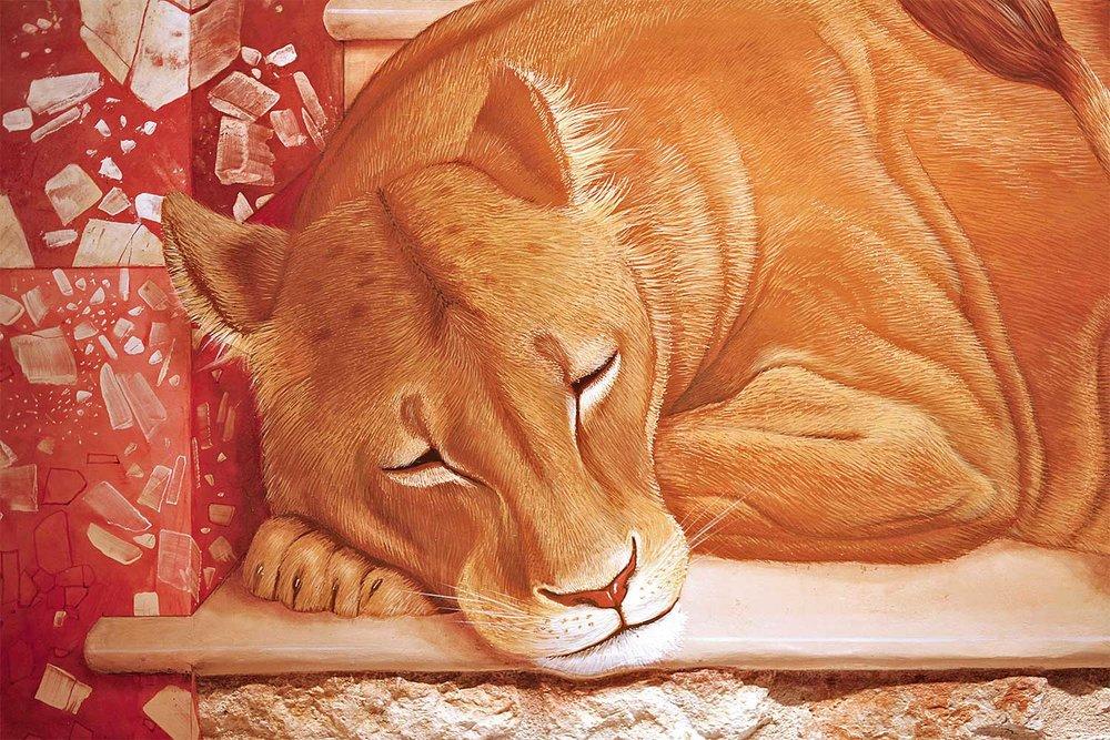 Lioness . detail