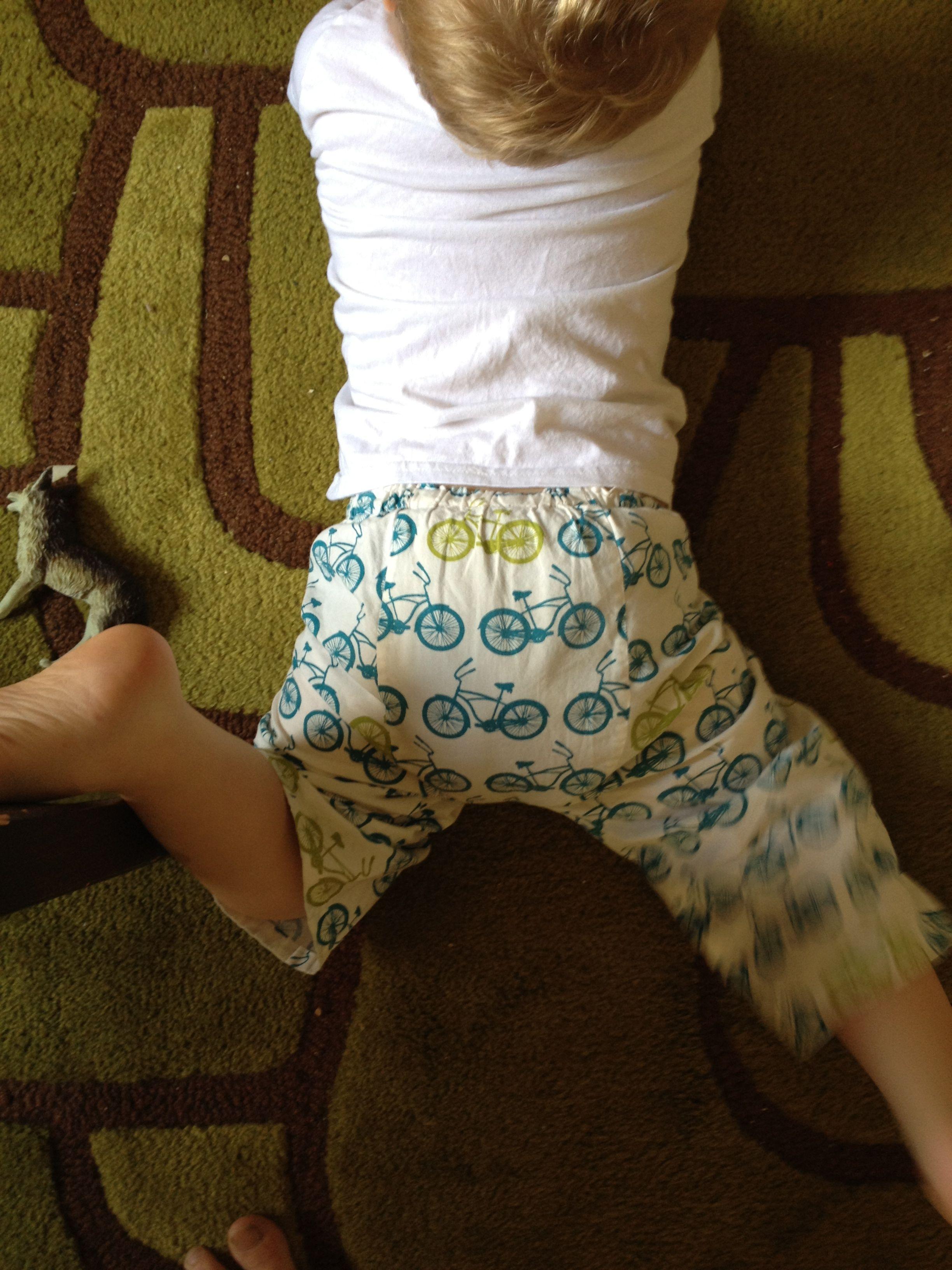 diapered Spank bottom three year olds