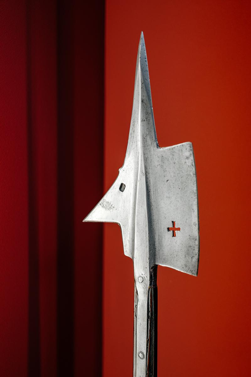 A rather human looking medieval halberd at the Musée d'art et d'histoire in Geneva, Switzerland.