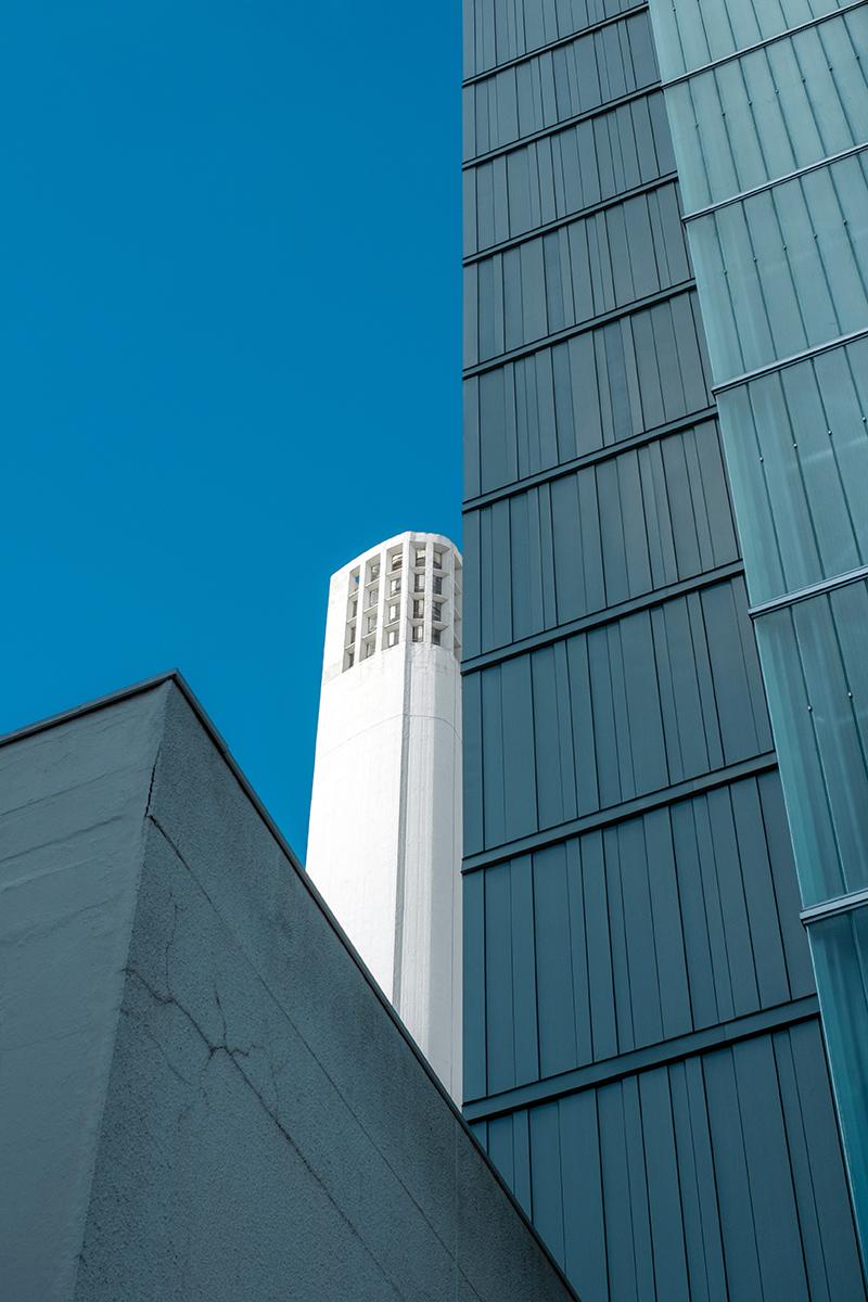 Cheminée du Front de Seine, a 130 metres high chimney in Paris 15th arrondissement designed by François Stahly and built in 1970.