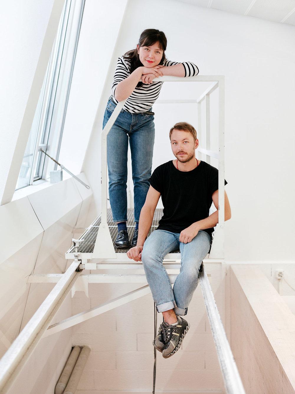 Designers Shizuka Saito and Valentin Dubois from Atelier Baltik in Geneva, Switzerland. Shot for IDEAT magazine.