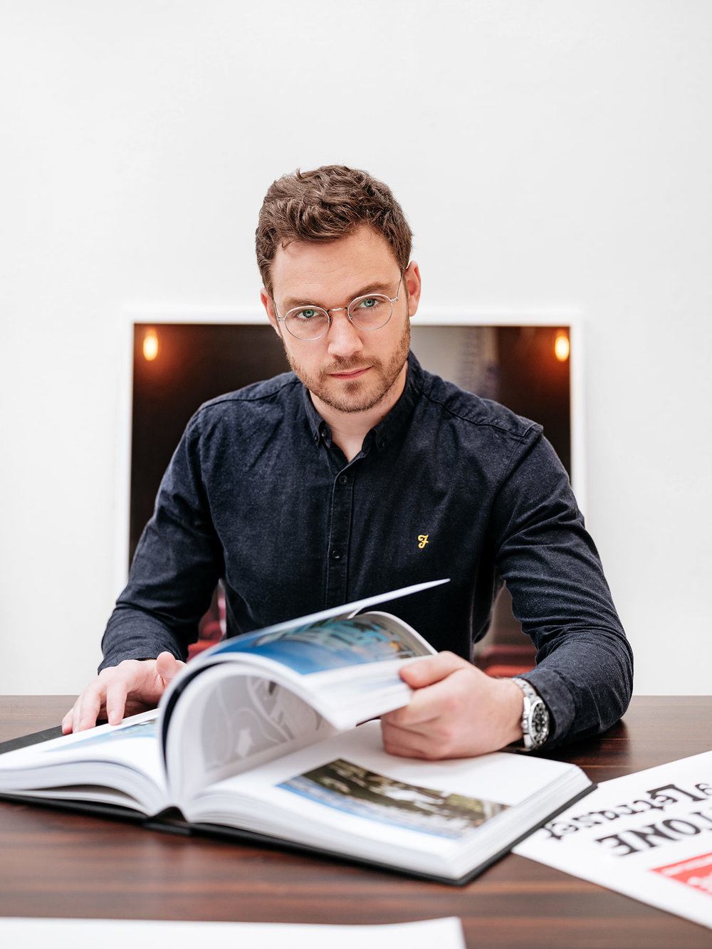 Alexandre Pugin, graphic designer & founder of The Workshop, Geneva, Switzerland.