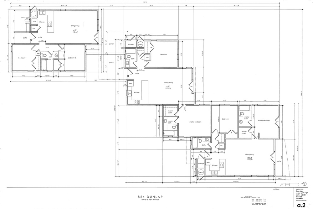 Compound layout- does not show existing historic home that was remodeled as part of the project.