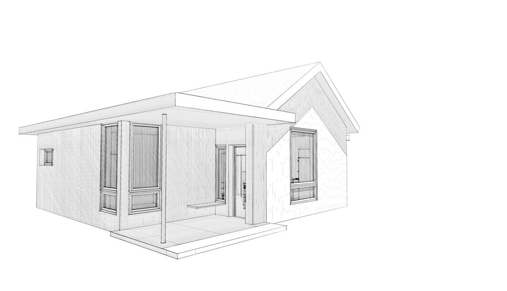 Small  affordable home design study for a friend in Crested Butte