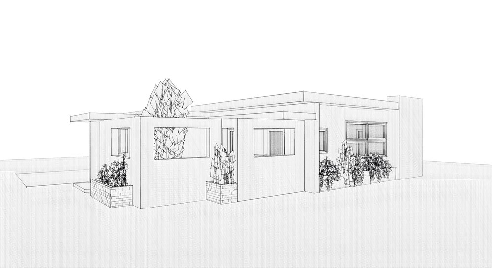 Town Home Design study, drawing inspiration from the Mid Century Modern Eichler Homes