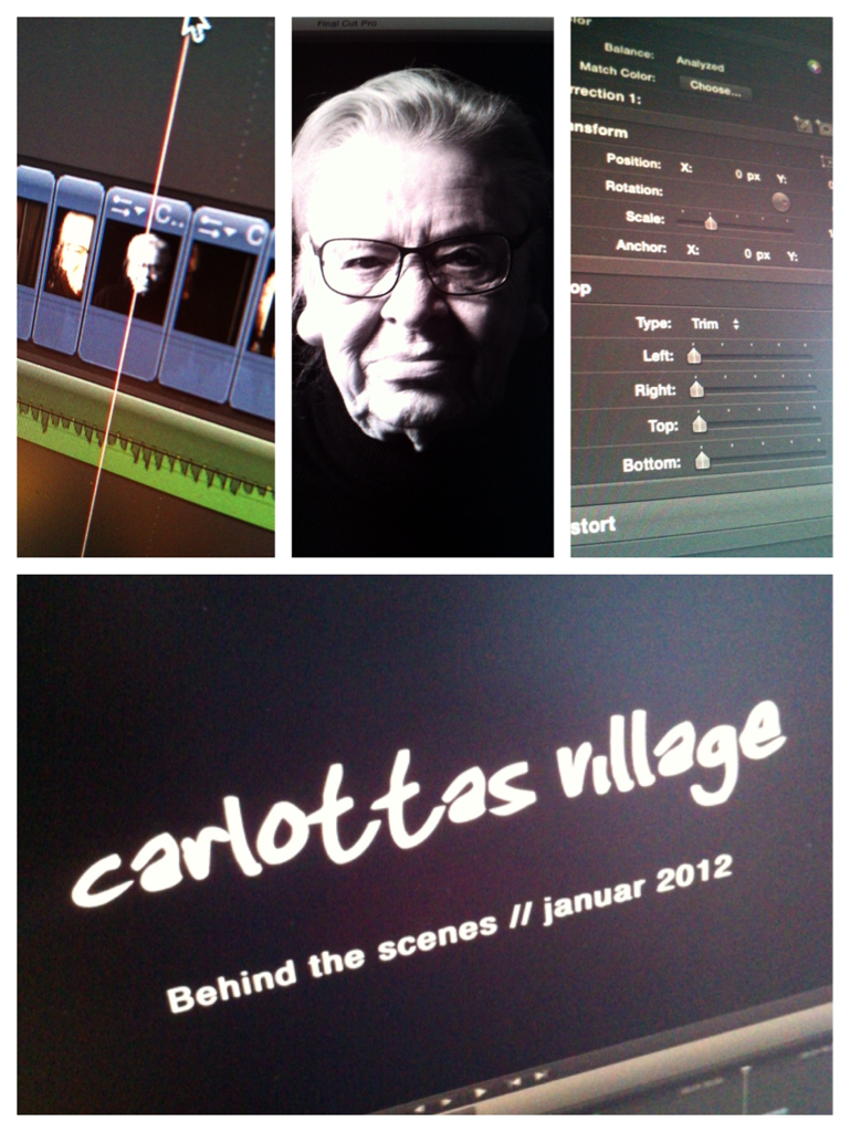 Today's gonna be spent editing a small behind the scenes video for Carlottas Village glasses. Just found the nicest little soundtrack.