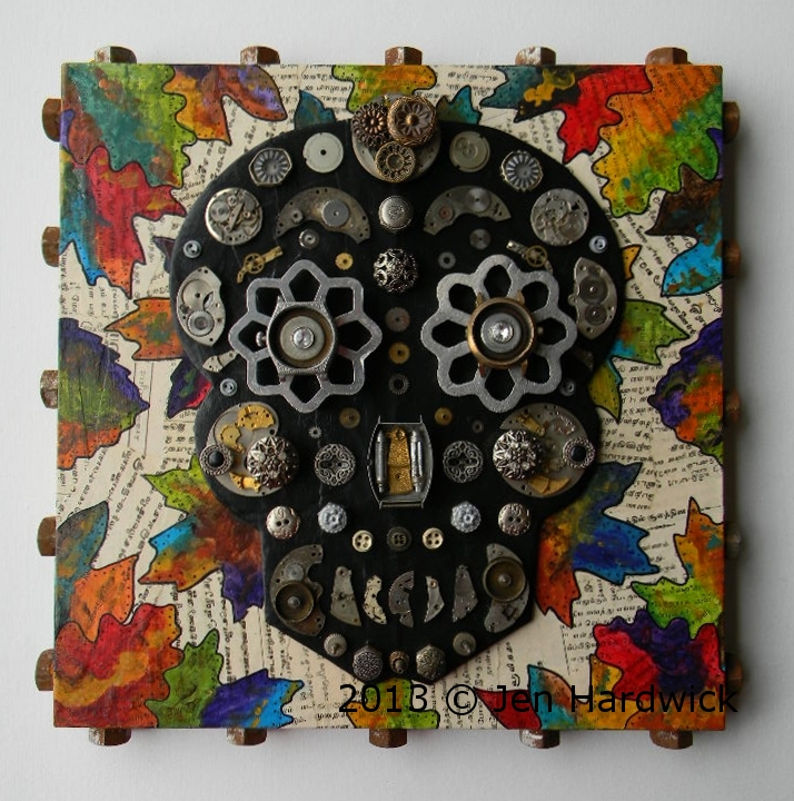 """Sugar Skull (Fall Foliage)"""