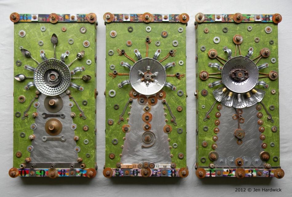 """Cyclopean Medusas"" (Triptych)"