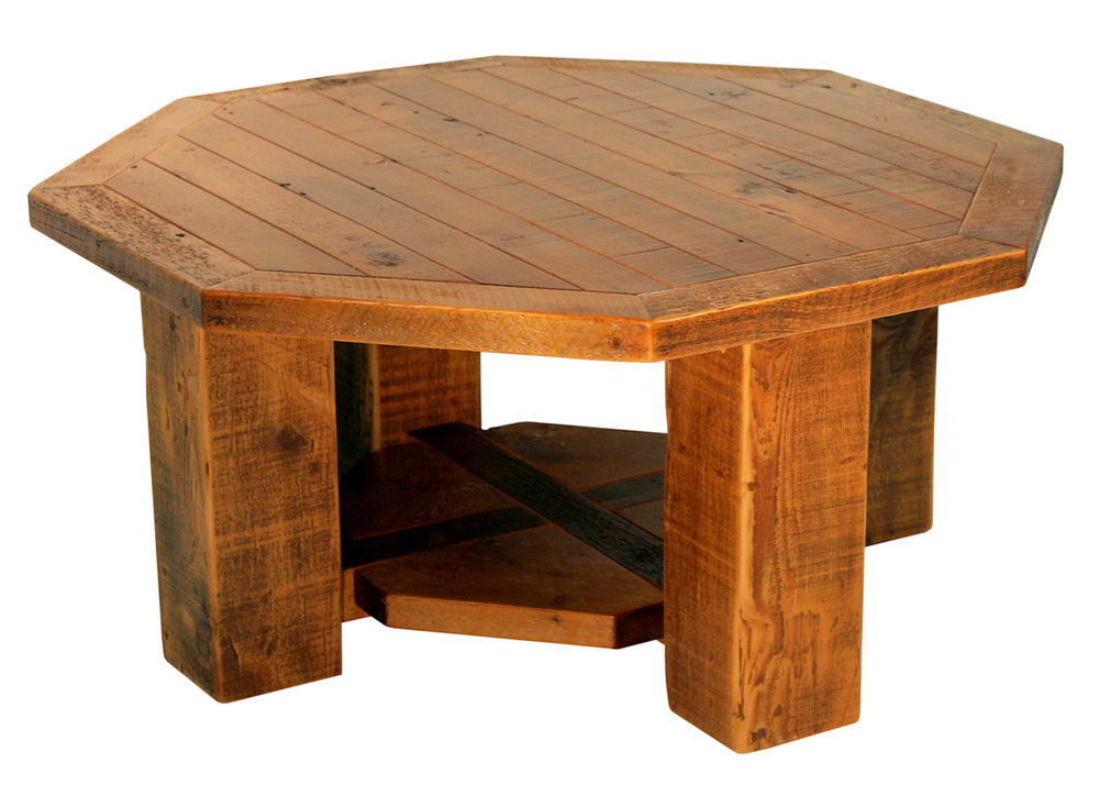 Coffee Tables Reclaimed Rustic Woodworks - Coffee table with drawers and shelf