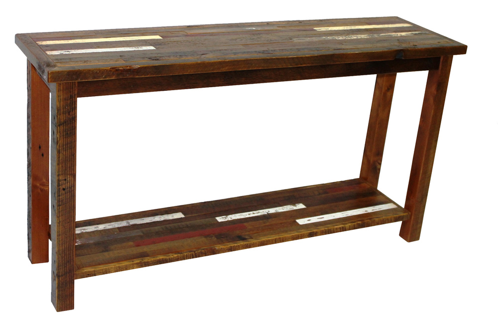 Sofa tables reclaimed rustic woodworks for 4ft sofa table