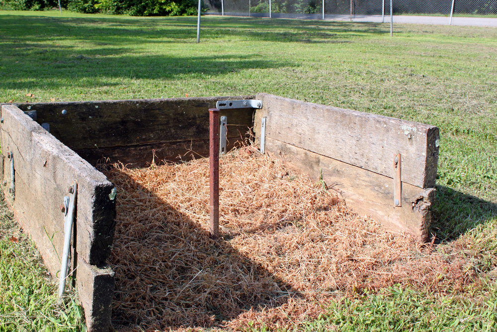 Horseshoe pits.