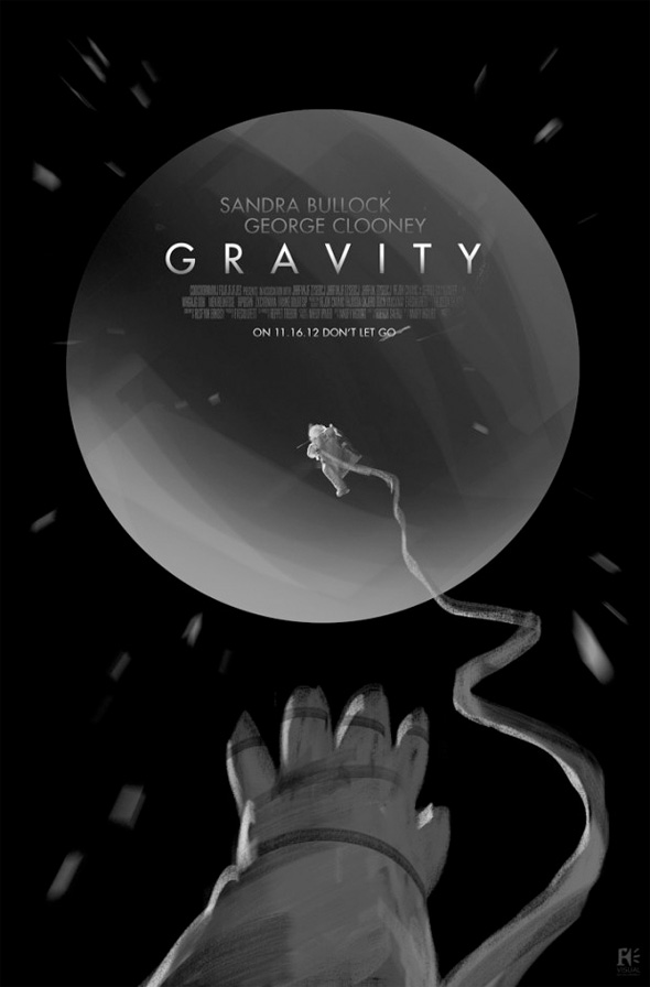 Gravity poster design by Framestore.