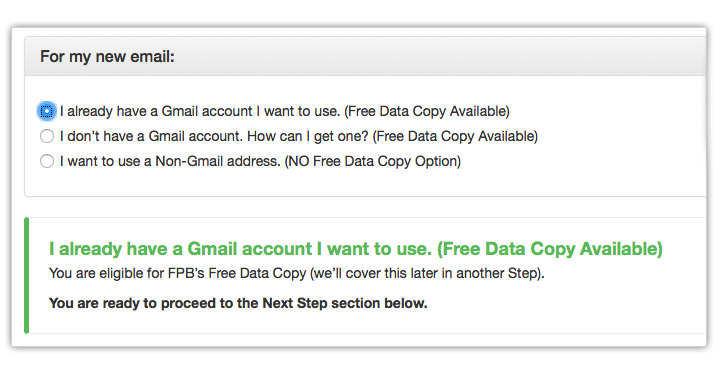 if you dont have a gmail account but would like to use one select the second option you will be prompted to create a free gmail account where we can