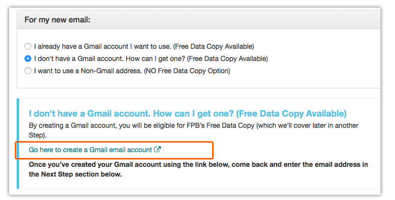 you will be prompted to create a free gmail account where we can transfer your email and data for free