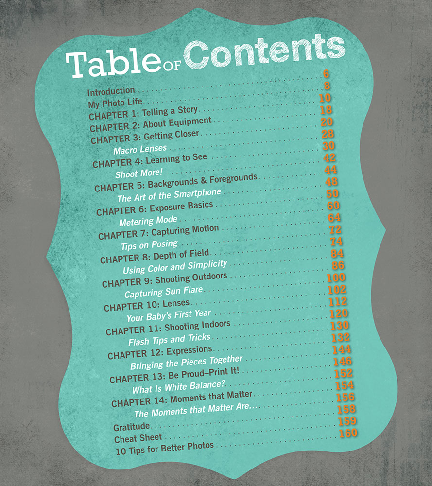 Click for a Sneak Peek at The Table of Contents!