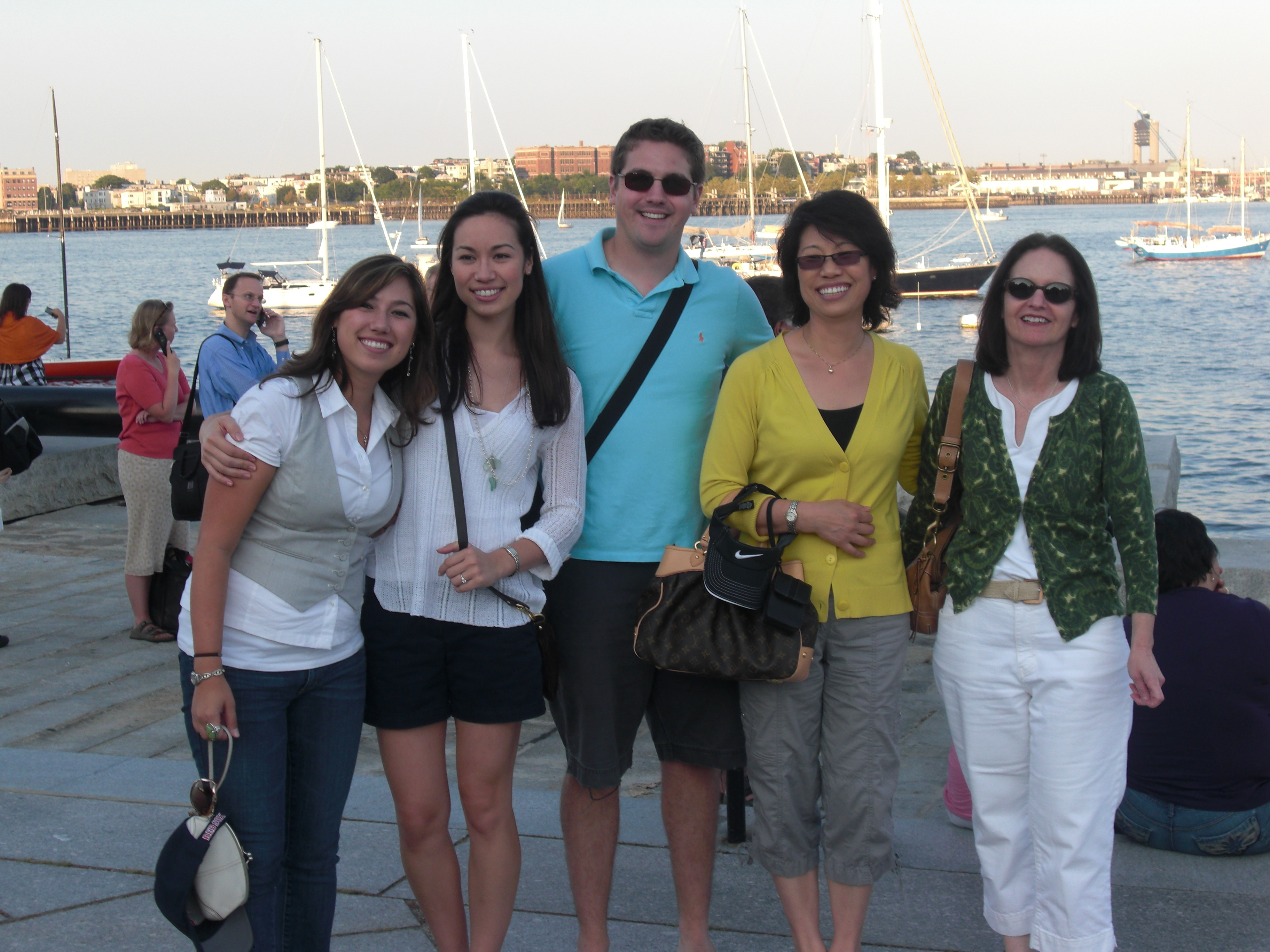 the ladies and Adam Boston waterfront