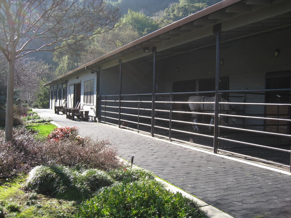 Outside view of the barn