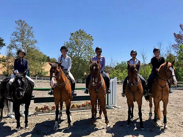 First day of June at CF!! What a good looking group of horses and riders😎😎😎