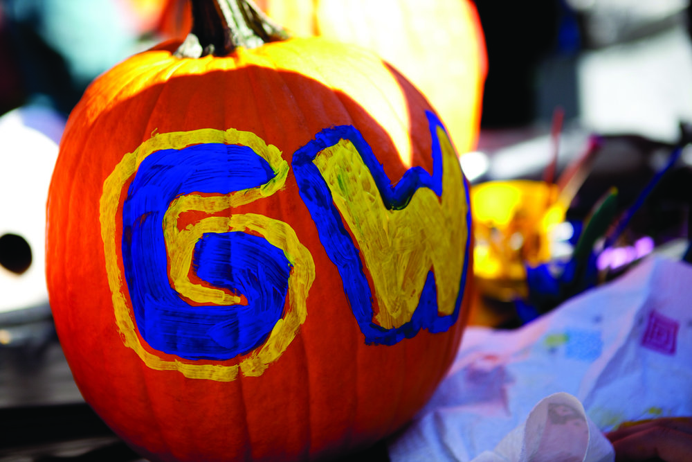 Painted pumpkin at the GW Vern Harvest