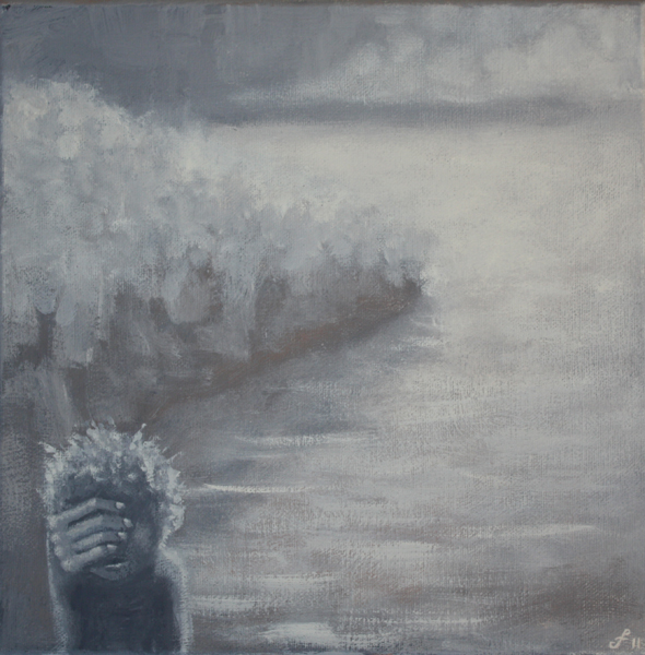 underwhelm IV, acrylic on canvas, 12x12, acrylic on canvas, 12x12