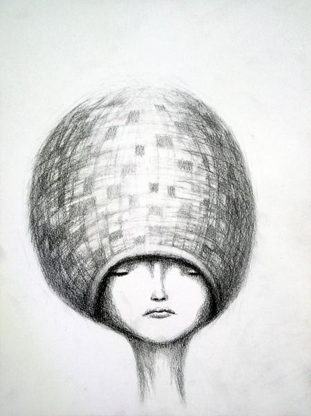 soft disco, graphite on paper, 9x12