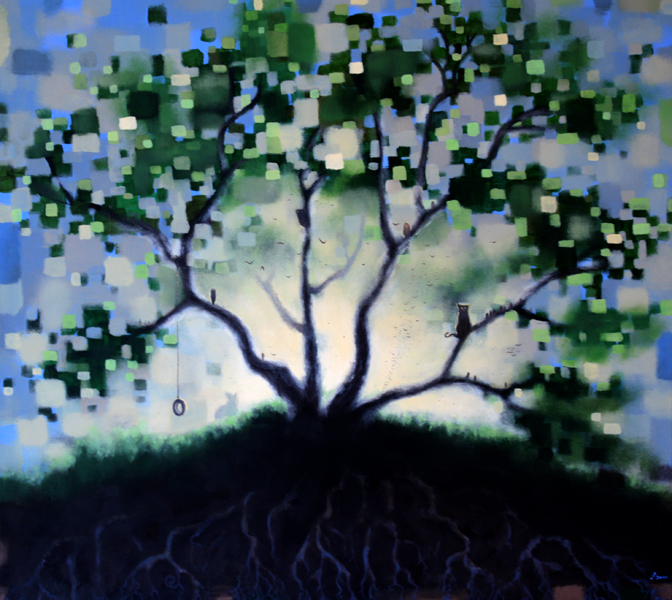 portrait of a tree, acrylic on wood panel, 36x40.jpg