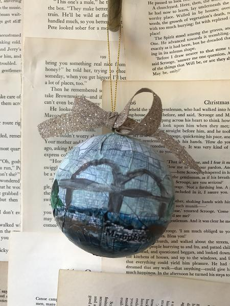 Dorothy Art - hand painted ornament of Memphis bridge!