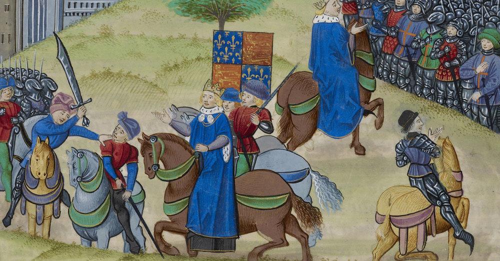 Jehan Froissart, Chroniques - caption: 'The Peasants' Revolt in