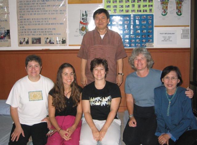 Thai Massage training with Chongkol Setthakorn. ITM, Chiang Mai, Thailand