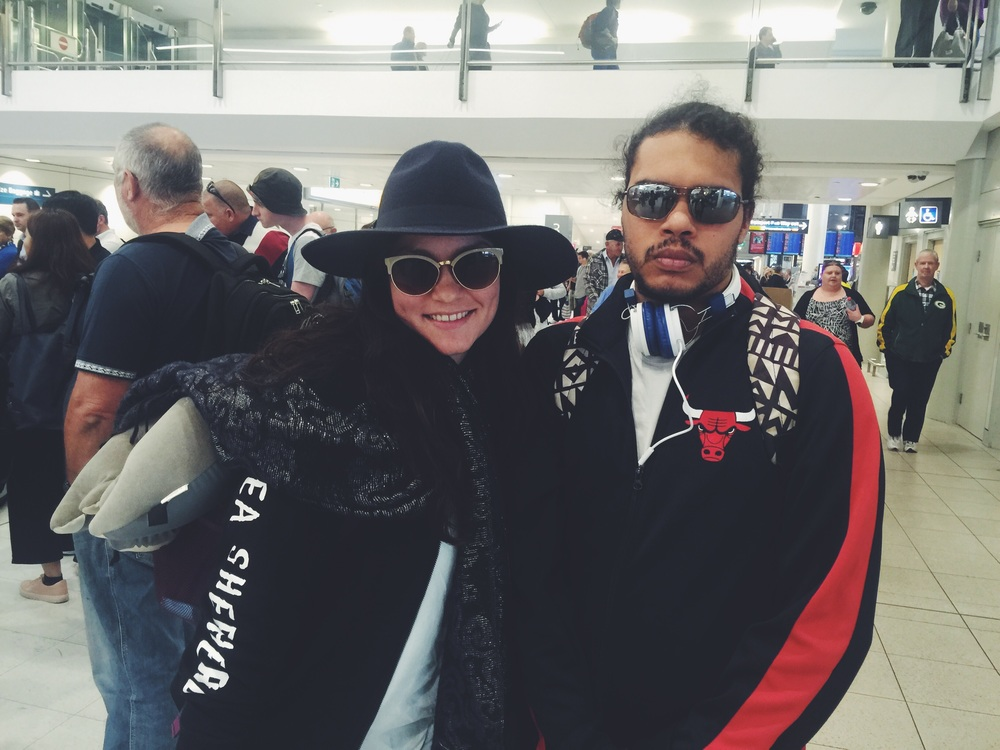 Chantelle and Lenny at the Brisbane Airport