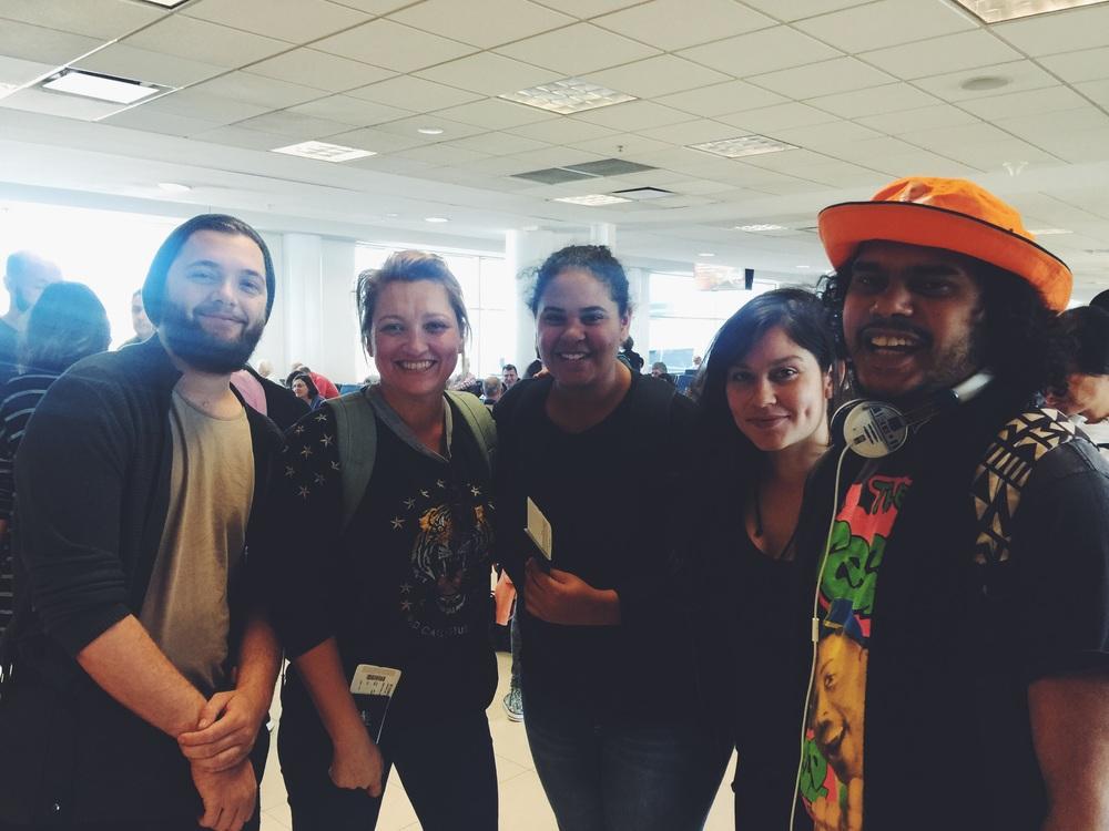 DYA Dream Team boarding the plane...next stop Guam!