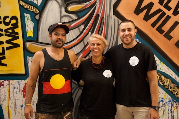 Land Writers + Mz Murri Cod (middle) - Street Art Mentors