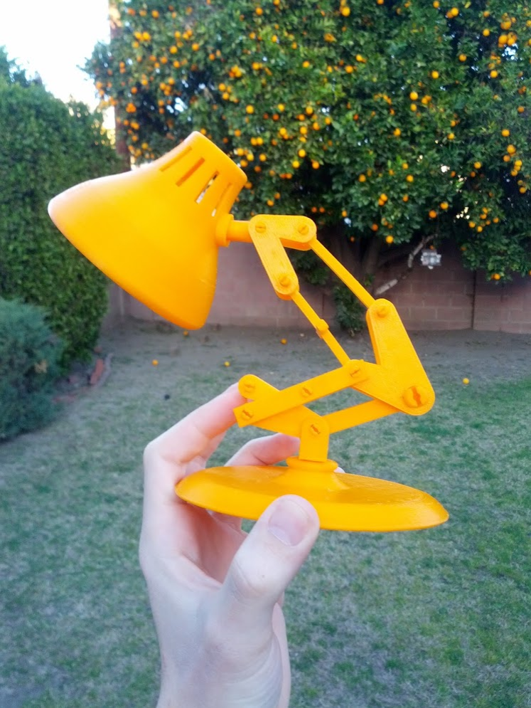 Check out this Pixar Lamp 3D Print by Ben Van Den Broeck Photo by Ben Van Den Broeck