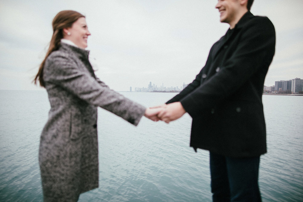 158_Montrose Beach Skyline Engagement Session Chicago, Illinois_Kindling Wedding Photography.JPG