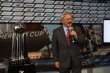 San Francisco Mayor, Ed Lee Addresses the crowd in honor of America's Cup festivities planned for 2013