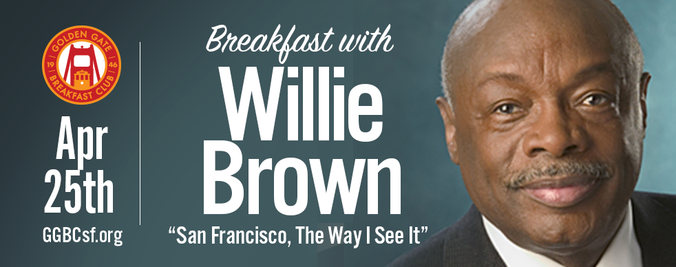 "Willie Lewis Brown Jr.  (born March 20, 1934[1]) is an American politician of the Democratic Party. Brown served over 30 years in the California State Assembly, spending 15 years as its speaker and later served as the 41st mayor of San Francisco, the first African American to do so. Under current California term-limits law, no Speaker of the California State Assembly will be permitted to have a longer tenure than Brown's.[2] The San Francisco Chronicle called Brown ""one of San Francisco's most notable mayors"" who had ""celebrity beyond the city's boundaries."" Brown served as San Francisco mayor from January 8, 1996 until January 8, 2004. His tenure was marked by a significant increase in real estate development, public works, city beautification and other large-scale city projects. He presided over the ""dot-com"" era at a time when San Francisco's economy was rapidly expanding. Brown presided over the city's most diverse administration with more Asian-Americans, women, Latinos, gays and African-Americans than his predecessors.[3] He increased funding of Muni by tens of millions of dollars and ended the city's policy of punishing people for feeding the homeless.  Many members of the San Francisco Board of Supervisors opposed some of Brown's agenda and some of his initiatives, in particular office and housing development.[5] Brown was restricted by term limits from running for a third term as mayor and was succeeded by a political protege, Gavin Newsom. After being 'termed out' of the mayor's office, Brown officially retired from politics, although he had often been associated with former California Governor Arnold Schwarzenegger, who served for seven years after the end of Brown's mayoral tenure,[6][7] and continues to participate in fundraising for and advising other politicians. (via Wikipedia)"