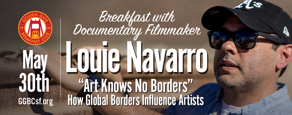 """Art Knows No Boundaries""  Documentary filmmaker, Louie Navarro travels the globe, interviewing artist from border regions. In this exclusive rough-cut preview, Louie presents selections from interviews with artists in Mexico and the United States. The filmmaker inquires how the borders (physical and mental) have influenced their work. The objective for this Crowdfunding GoFundme.com project is to travel to more countries with hard borders dividing them from their neighbors and film more interviews."