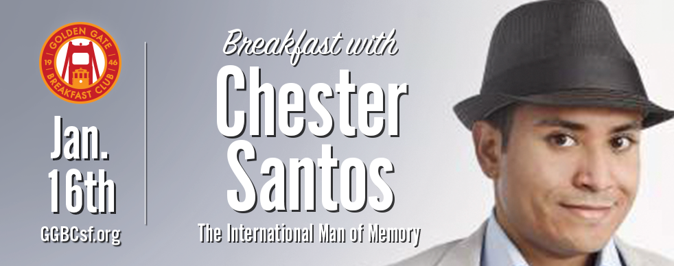 "Known simply as ""The International Man of Memory"",  Chester Santos  has left an impression on all corners of the earth. Through his ability to demonstrate extraordinary feats of the mind, as well as educate others to do the same, this  U.S. Memory Champion  is widely regarded to be one of the greatest memory experts in the world. He is the author of the best-selling book, ""Instant Memory Training for Success"", published by leading academic publisher John Wiley & Sons ( Wiley ), and ""Mastering Memory: Techniques to Turn Your Brain from a Sieve to a Sponge"", published by leading nonfiction publisher Sterling Publishing ( Sterling ). His memory talents have been featured in numerous media outlets including the   New York Times  ,   Wall Street Journal  ,   Washington Post  ,   CNN  ,   NBC  ,   ABC     and   PBS  . From recalling a random 100-plus digit sequence in five minutes to naming every U.S. congress person's state and district number, there's no memory challenge Chester hasn't taken on."