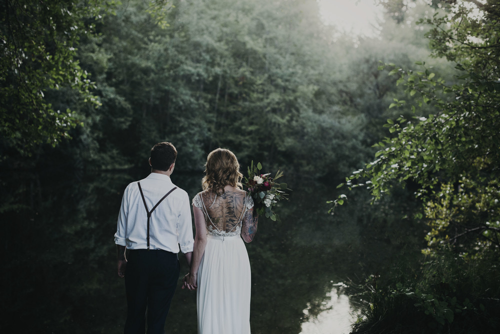 Bainbridge Island Styled Shoot styled by Bixby + Pine, Gown from Le Salon Bridal