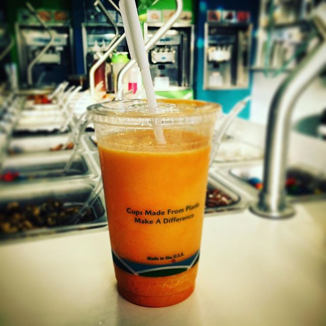 """#mywhirledpeace makes me an #orangecreamsicle #smoothie so good I come back every day!"" What does @whirledpeace do for you?"