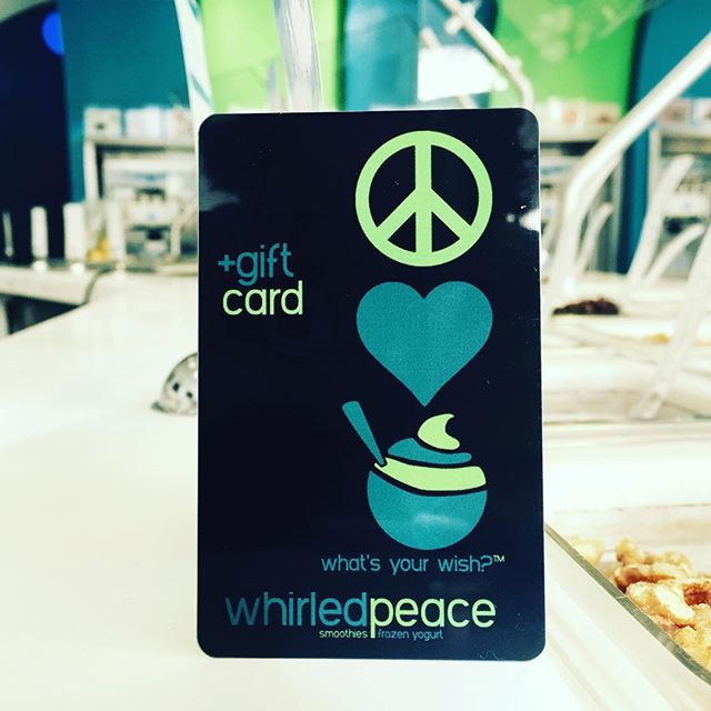 Need a stocking stuffer for #christmas ? Grab a @whirledpeace #giftcard for the special people in your life! Who doesn't want #whirledpeace??